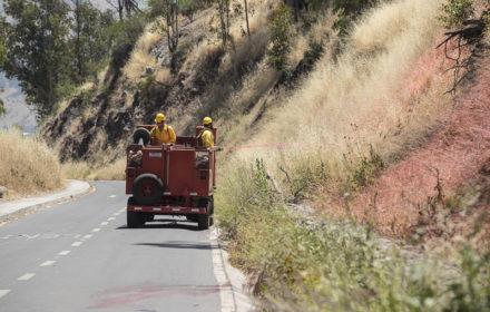 AF7000 y Parque Metropolitano de Santiago aplican Retardante de Fuego Forestal